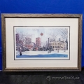 Calgary Tower by Loren Chabot Framed Numbered Print Under Glass