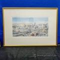 Calgary Skyline - Numbered Print Framed under Glass