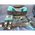 Makita LXT Belt 4 Pack with 5 Batteries Charger