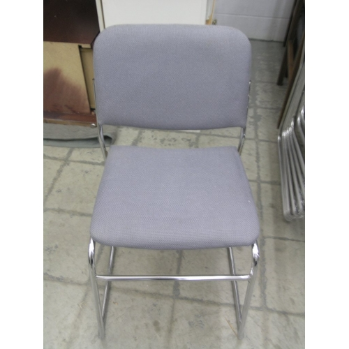 Tobago Stacking Chair Brown Chrome: Stacking Chairs Grey/Chrome Legs