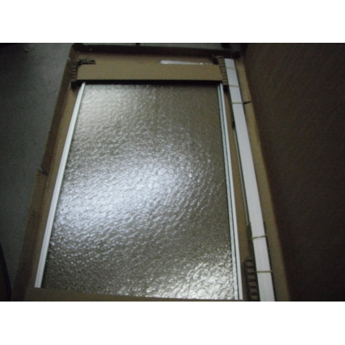2 panel frosted glass sliding shower door for Frosted panel door