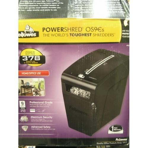 Fellowes Power Shred 9 Sheet Os9cs Paper Shredder