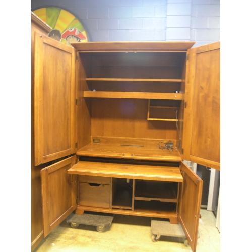 Executive Hide Away Computer Cabinet Desk Ethan Allen