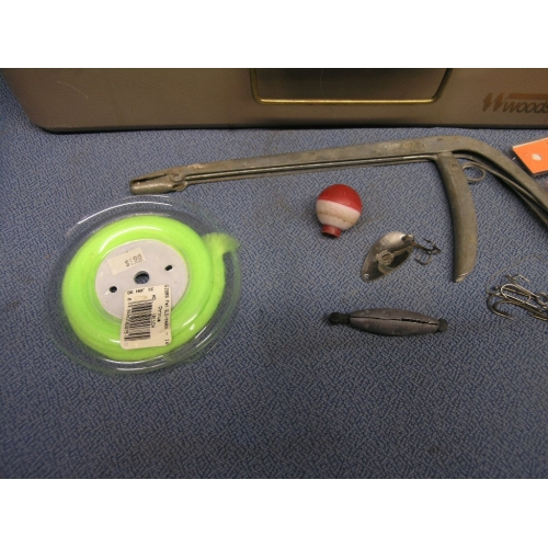 Woodstream Fishing And Tackle Box W Hooks Weights Leads