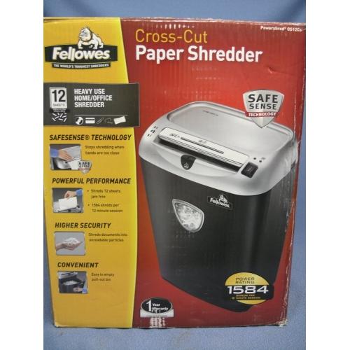 Fellowes Cross Cut Paper Shredder 12 Sheets Os12cs
