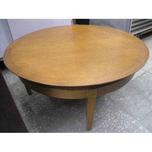 Round Wood Coffee Table 36x18 5 Buy Sell Used Office Furniture Calgary