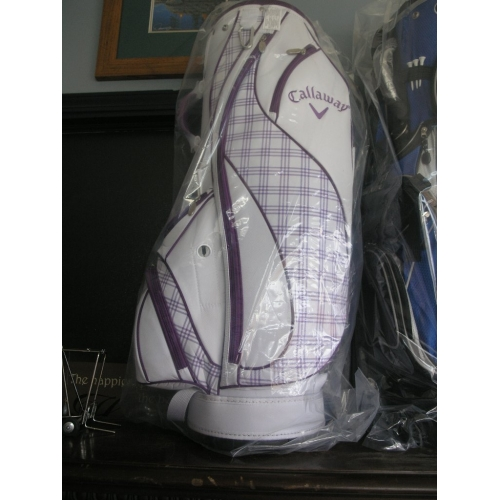 Used Ladies Golf Clubs >> Callaway Golf Bag Purple and White Ladies - New in Box ...