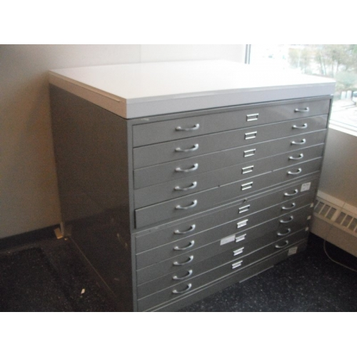Map Cabinet Flat File 10 Drawer 2 Pc Base Top Allsold