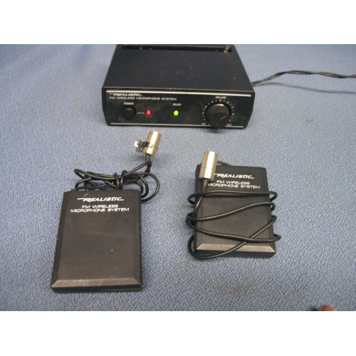 realistic fm wireless microphone system 2 microphone allsold ca buy sell used office