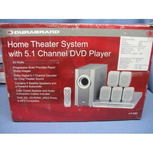 Durabrand Dvd Player 5 1 Surround Sound Theatre System