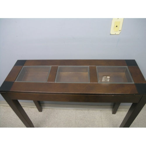 Display Case Coffee Table Dark Walnut Black Buy Sell
