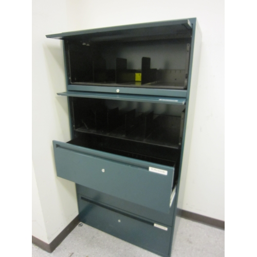Office Specialty Teal 5 Drawer Lateral File Cabinet
