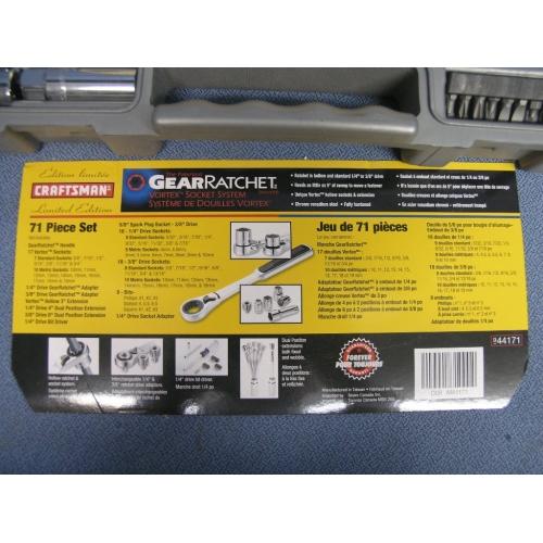 Craftsman 71 Piece Gear Ratchet Vortex Socket Set - Allsold.ca - Buy