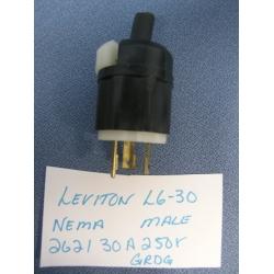 Leviton 2621 Nema L6 30 30a 250 V Turn And Pull Male Plug