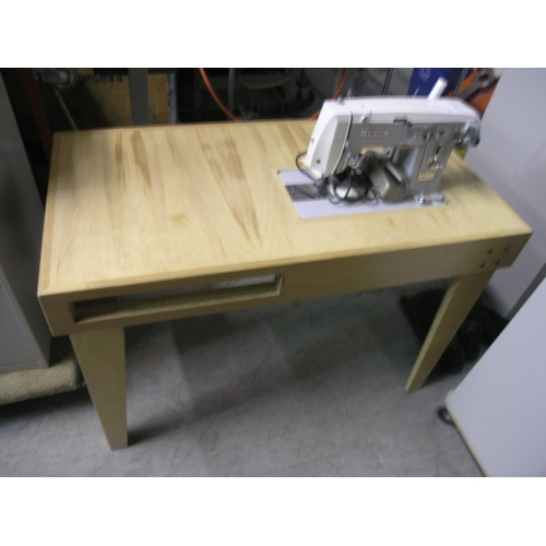 Viking 678 sewing machine on custom sewing table buy sell used office furniture - Viking office desk ...