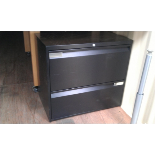 Used Kitchen Cabinets Calgary: 2 Drawer Lateral Filing Cabinet Black Teknion