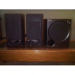 Kenwood Bookshelf Speakers Amp Sony Sub Woofer Self