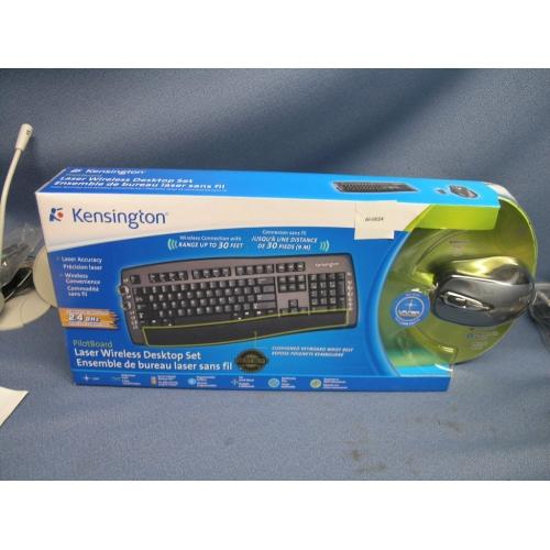 kensington laser wireless keyboard mouse k64390ca buy sell used office. Black Bedroom Furniture Sets. Home Design Ideas