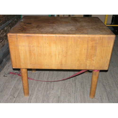 solid butcher block table island 40 x 29 x15 top dove tail