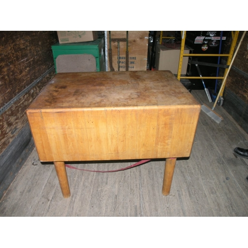 Buy Butcher Block Table Top: Solid Butcher Block Table Island 40 X 29 X15 Top Dove Tail