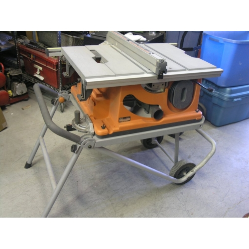 Ridged Heavy Duty 10 Portable Table Saw With Stand Buy Sell Used Office