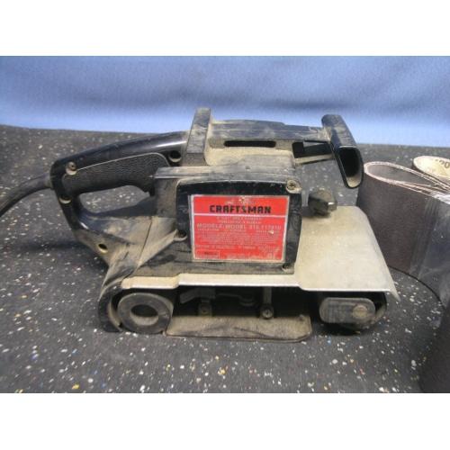 """Treadmill Belt Sander: 4"""" Craftsman Belt Sander 315.117910 / Sand Belts"""