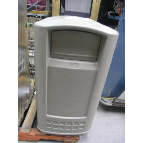 Rubbermaid Plaza Garbage Waste Container Commercial