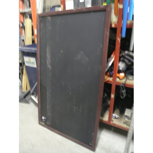 chalk board menu board black cherry frame 36 x 60 buy sell used office. Black Bedroom Furniture Sets. Home Design Ideas