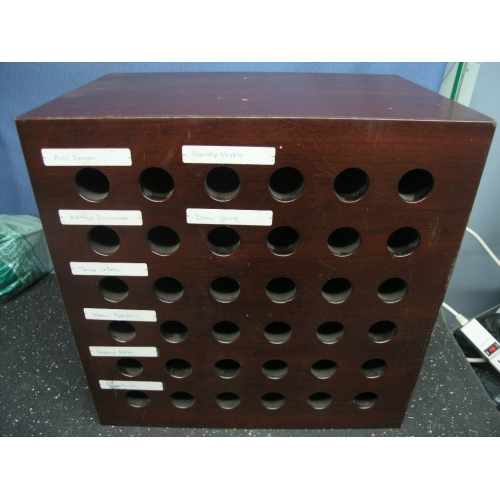 Wooden Office Pigeon Hole Message Mail Sorter Allsold