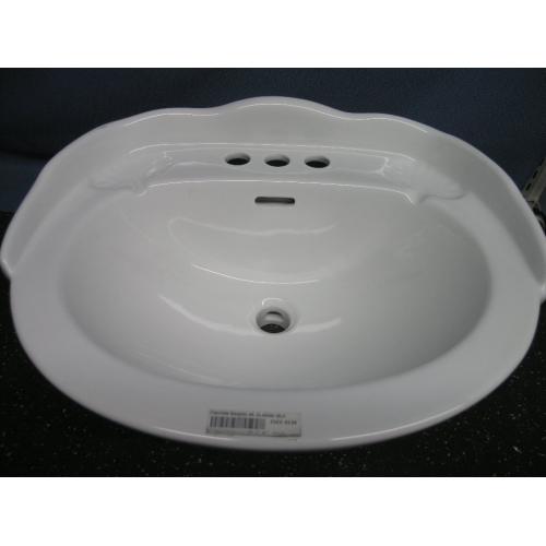 foremost white bathroom ceramic basin sink rc36 raised