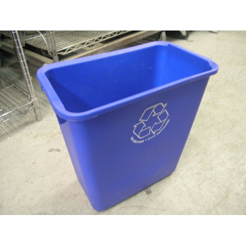 Blue Plastic Recycling Can Waste Basket Recycle Allsold