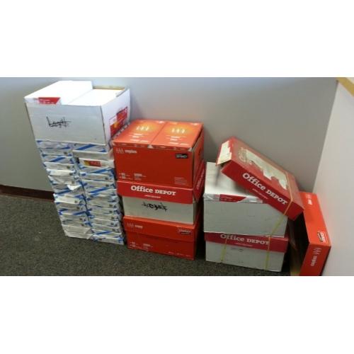 Lot Of White Printer Paper Legal Staples Office Depot