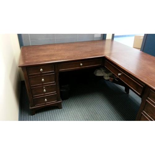 Wood L Unit Suite Desk W 10 Drawers Allsold Ca Buy