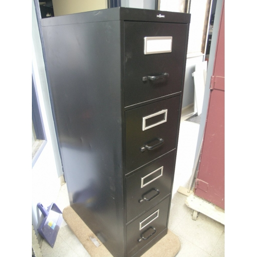 Prosource Black Vertical Letter 4 Drawer Filing Cabinet