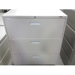 Staples Bisque 3 Drawer Filing Cabinet Lateral Locking ...