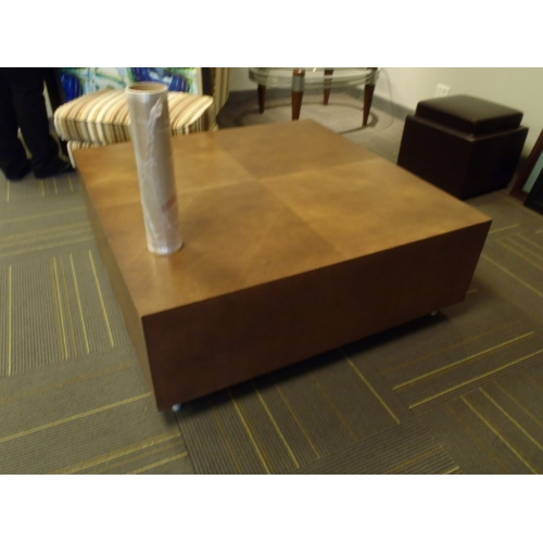 Large Thick Wood Square Coffee Table 48x48 Buy Sell Used Office Furniture Calgary
