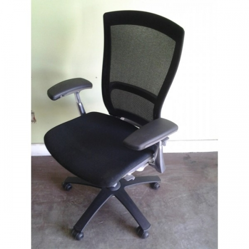 Knoll life swivel black amp aluminum office chair with arms allsold ca
