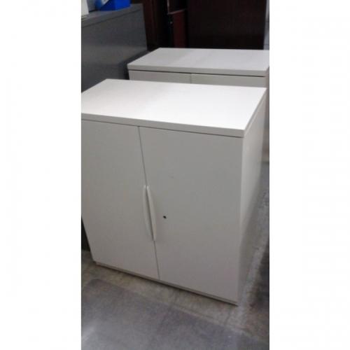 2 Door Locking Storage Cabinet By Teknion 18 X 36 X 39 1