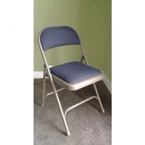 steel folding chair w padded seat 18 height buy
