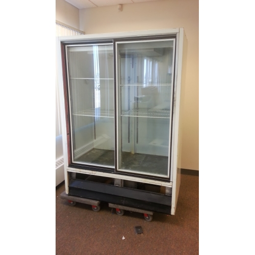 White Commercial 2 Glass Door Cooler Refrigerator