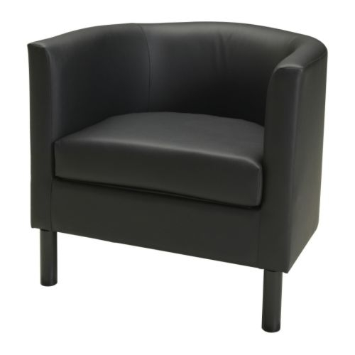 ikea solsta olarp bucket style reception guest arm chair black buy sell used. Black Bedroom Furniture Sets. Home Design Ideas