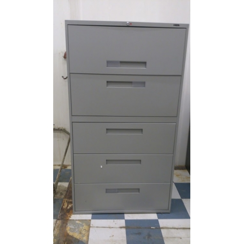 Global 5 Drawer Lateral Grey File Filing Cabinet 36x18