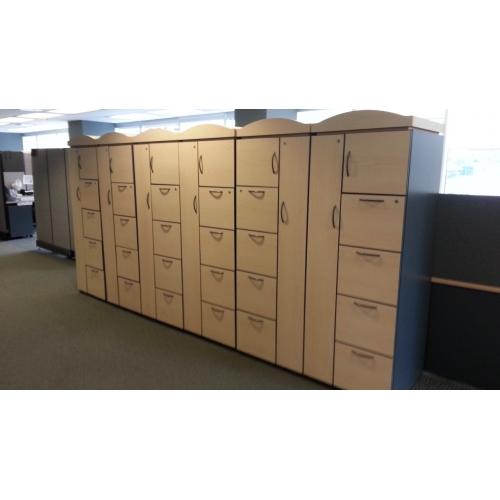 "Used Kitchen Cabinets Calgary: Teknion 4 Drawer, 2 Cabinet Wardrobe 69"" X 24"" X 24"