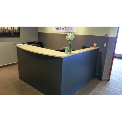 l Shaped Reception Desk Gray Reception Desk L-shaped
