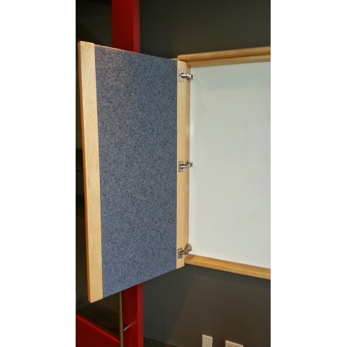 Enclosed Whiteboard Cabinet Egan W Swinging Door Tack