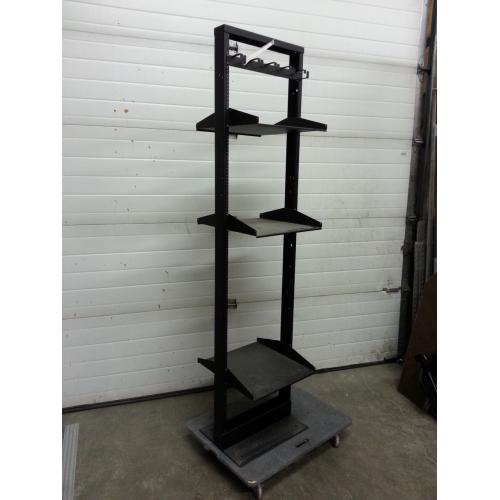 black 3 shelf telco relay 2 post server rack. Black Bedroom Furniture Sets. Home Design Ideas