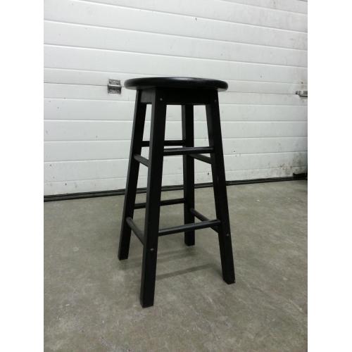 Black Wooden 4 Leg Stool 24 In High Allsold Ca Buy