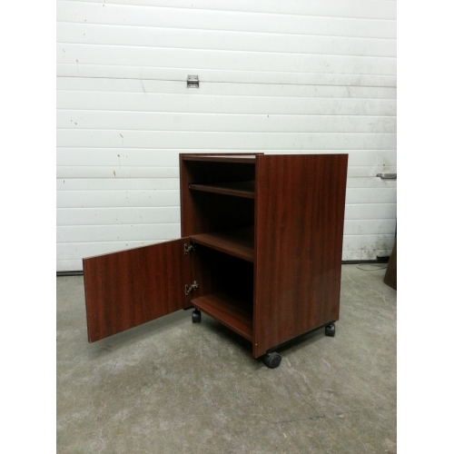 wood grain printer microwave stand w pull out tray and. Black Bedroom Furniture Sets. Home Design Ideas