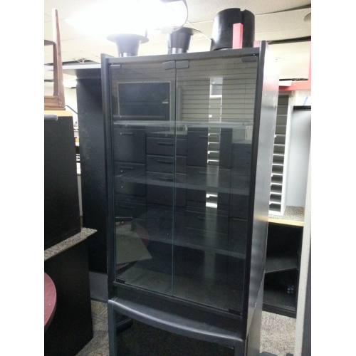 Black Stereo Cabinet With Glass Doors Allsold Ca Buy