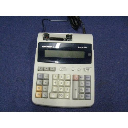 Sharp El 2192p 12 Digit Color Printing Calculator Adding